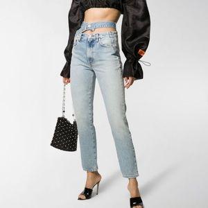 Heron Preston x Sami Miro Double Waistband Jeans